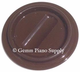Lucite Piano Caster Cup, Brown
