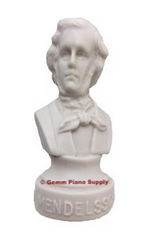 "Authentic Mendelssohn Composer Statuette, 4-1/2"" High"