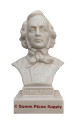 "Authentic Mendelssohn Composer Statuette, 5""- 5-1/2"" High"