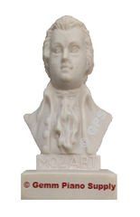"Authentic Mozart Composer Statuette, 5""- 5-1/2"" High"