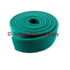 "Piano Spring Rail Felt, Green, 13/16"" Wide"