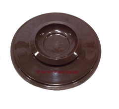 "Piano Plastic Caster Cup, 5-3/4"" Brown"