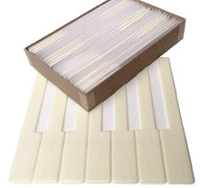 "Piano Keytops Simulated Satin Ivory 2"" Long Head"