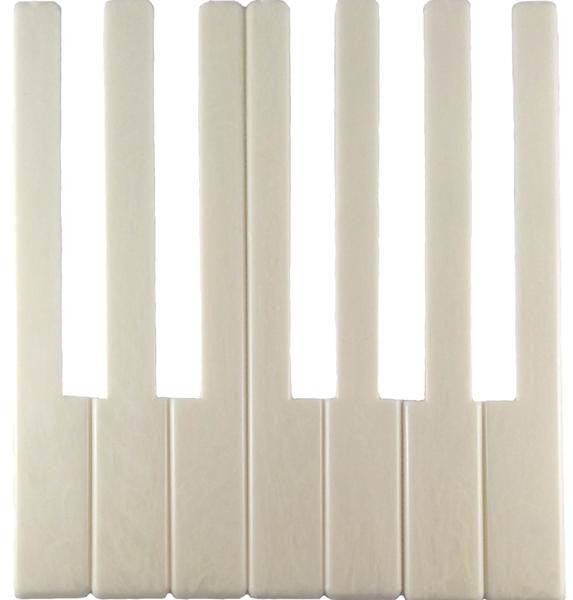 "Piano Keytops Simulated Satin Ivory 6"" Length, 1-15/16"" Short Head (1 Octave)"