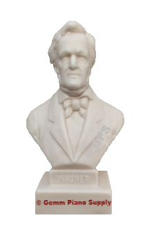 "Authentic Wagner Composer Statuette, 5""- 5-1/2"" High"