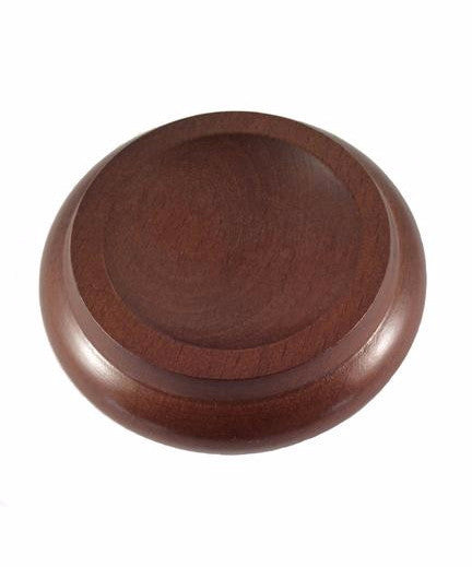 Hardwood Maple Piano Caster Cups, Walnut