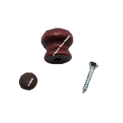 Piano Wood Desk Knob with Large Bored Type, Red Mahogany