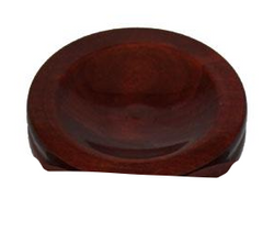 Piano Small Hardwood Maple Caster Cups, High Gloss 3-1/2""