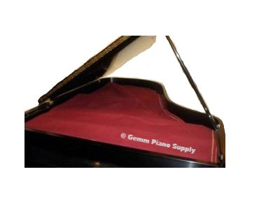 Grand Piano String Felt Cover, Red