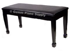 Grand Piano Bench Satin Finish Standard Upholstered Top