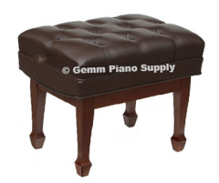 Standard Artist Piano Bench Red Mahogany Satin Finish