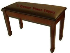 Upright Piano Bench Satin Finish Upholstered Top