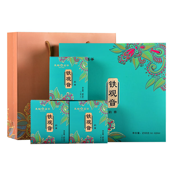 天福茗茶 韵香铁观音 Tieh Kwan Yin (Dark Roasted) Grade S7  (210g/7.4 oz/box) - etmall.us 北美易購