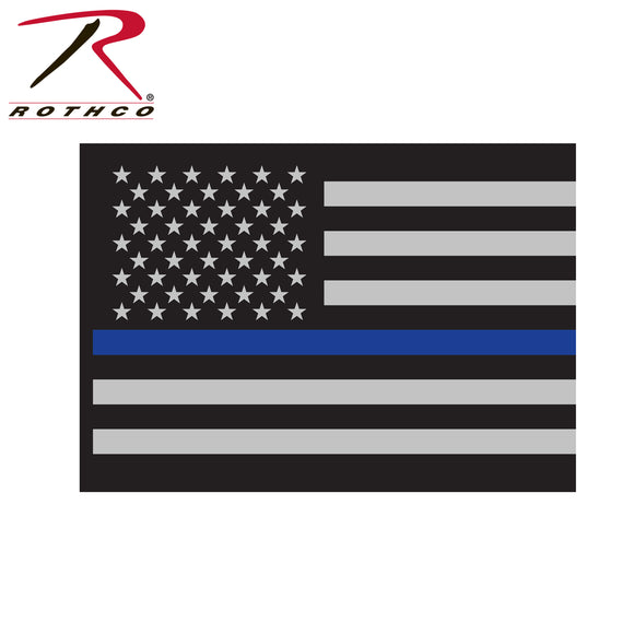 Thin Blue Line Flag Decal - SCI2WAY