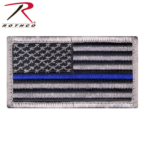 Thin Blue Line Police U.S. Flag Patch