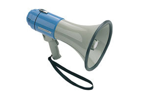 Megaphone with Built-In Siren