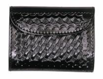 BASKETWEAVE LEATHER GLOVE CASE