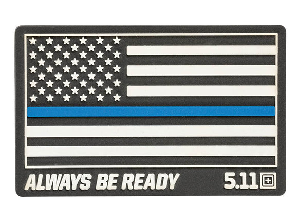 5.11 Tactical Thin Blue Line Rubber Patch