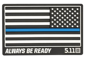 5.11 Tactical Thin Blue Line Reverse Rubber Patch