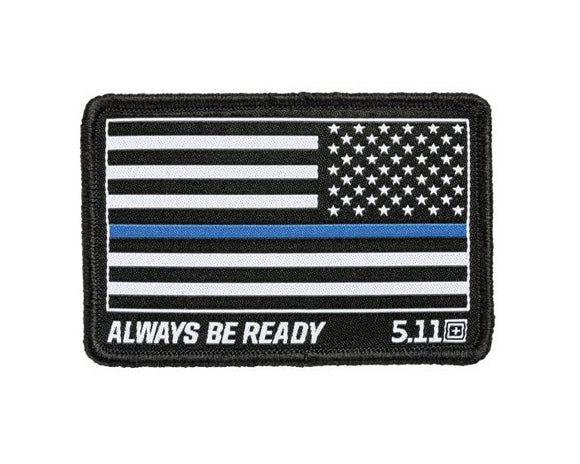 5.11 Tactical Thin Blue Line Reverse Woven Patch