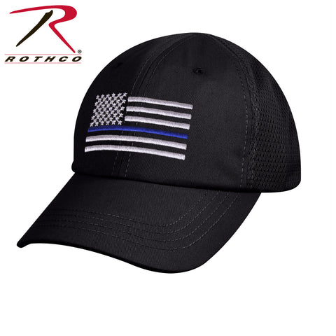 Tactical Mesh Back Cap With Thin Blue Line Flag