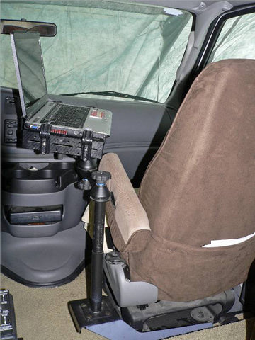 Universal No-Drill™ Laptop Mount for heavy duty trucks. - SCI2WAY