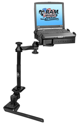 No-Drill™ Laptop Mount with Adjust-A-Pole™ for the Dodge RAM 1500-5500
