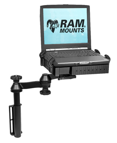 Universal Flat Surface Vertical Drill-Down Vehicle Laptop Mount Stand - SCI2WAY