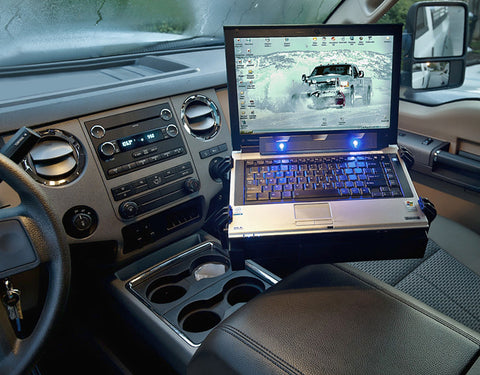 No-Drill™ Laptop Mount for the Ford F-250, F-350, F-450, F-550, F-650, F-750 & Excursion