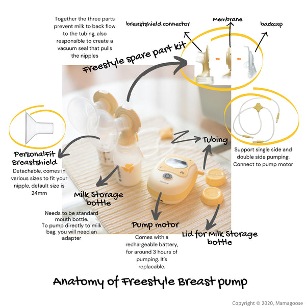 Mamagoose Blog Post - Anatomy of Freestyle Breast  Pump