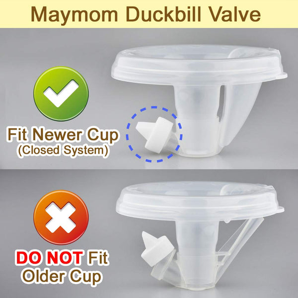 Breast Pump Parts | Maymom Duckbill Valve for Freemie Closed System Spectra Handsfree | Mamagoose | Part/Accessory for Freemie