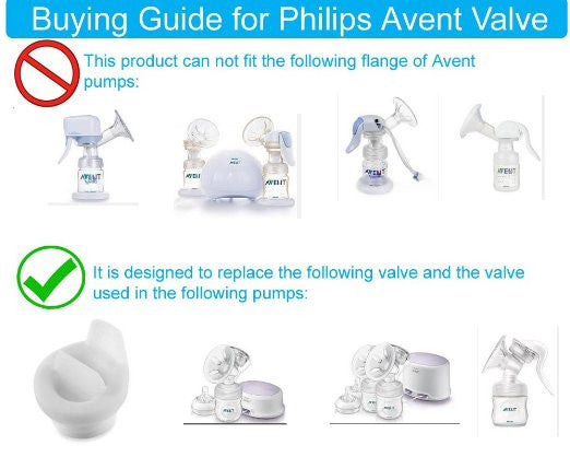 Breast Pump Parts | Valve Duckbill for Philips Avent Comfort Breast Pump | Mamagoose | Part/Accessory for Philips Avent