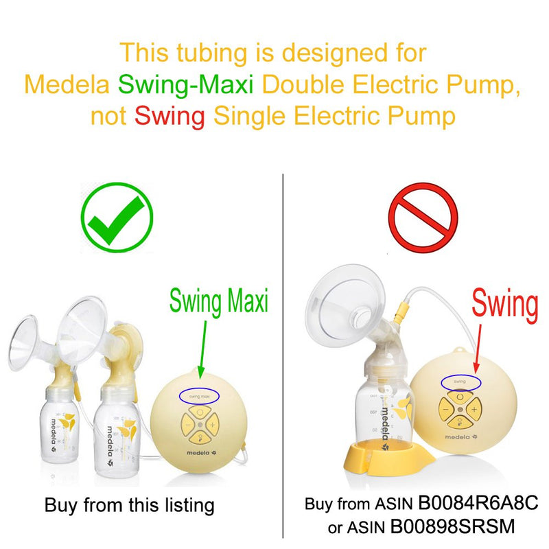 Breast Pump Parts | Maymom Tubing for Medela Swing Maxi breast pump | Mamagoose | Part/Accessory for Medela