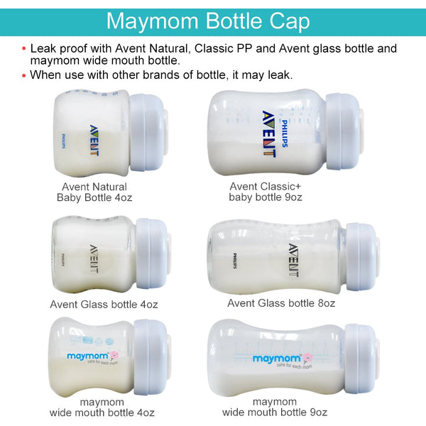 Maymom Wide-Neck Milk Bottle with SureSeal Silicone Disc, 140ml - Mamagoose