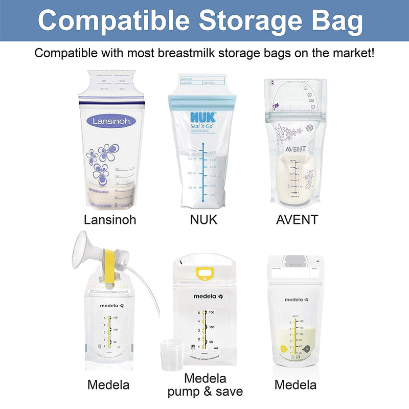 Breast Pump Parts | Milk Storage Bag Adapter Spectra S1 S2 Pump Avent Comfort Maymom Wide Neck Flange/Breastshield | Mamagoose | Part/Accessory for Spectra