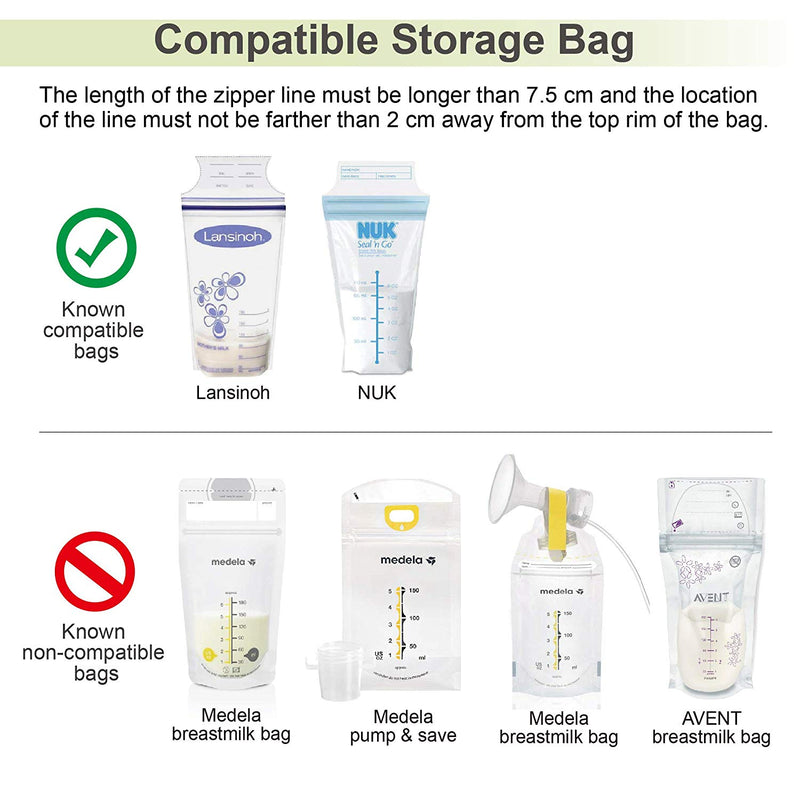 Breast Pump Parts | Maymom Milk Storage Bag Adapter for Lansinoh Pigeon Breast pump | Mamagoose | Part/Accessory for Pigeon