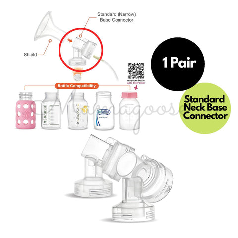 Breast Pump Parts | Maymom Narrow Neck Base Connector for Medela | Mamagoose | Part/Accessory for Medela