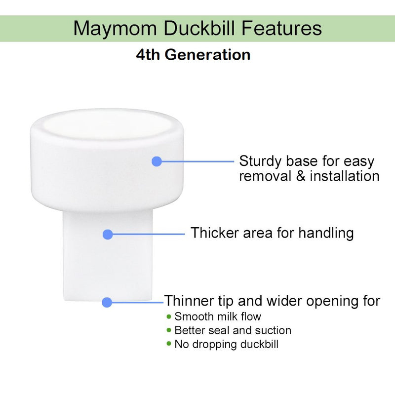 Breast Pump Parts | Maymom Valve Duckbill for Spectra and Medela Breast Pump (4th Generation) | Mamagoose | Part/Accessory for Spectra