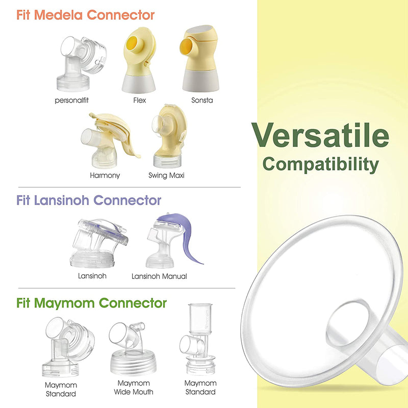 Breast Pump Parts | Maymom MyFit Crater Series Detachable Breast Shield Compatible with Medela Breast Pump | Mamagoose | Part/Accessory for Medela