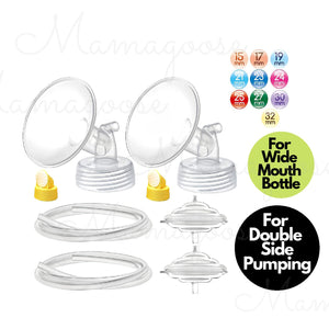Breast Pump Parts | Maymom Replacement Set for Spectra breast pump For Wide Mouth Bottle | Mamagoose | Part/Accessory for Spectra