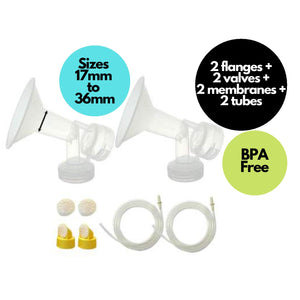 Breast Pump Parts | Maymom replacement set for Medela Pump In Style Advance Breast Pump | Mamagoose | Part/Accessory for Medela