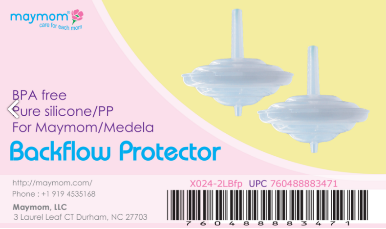 Breast Pump Parts | Backflow Protector for Medela Maymom Breast shield | Mamagoose | Part/Accessory for Spectra
