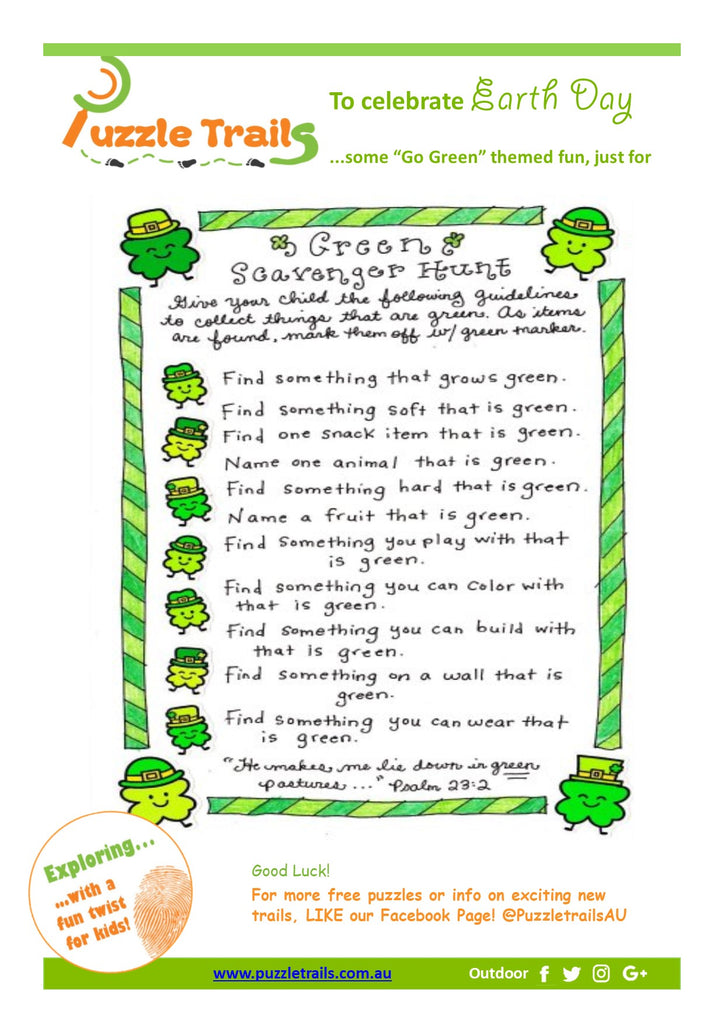 "Here's a little ""Go Green"" fun this Earth Day!"
