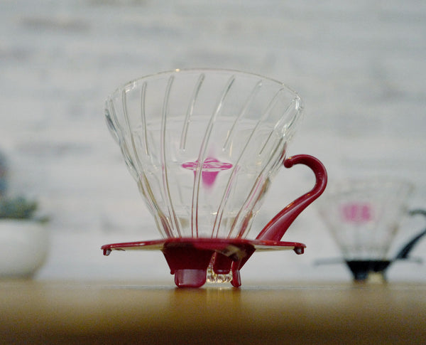 Hario Glass Dripper V60 02 Red