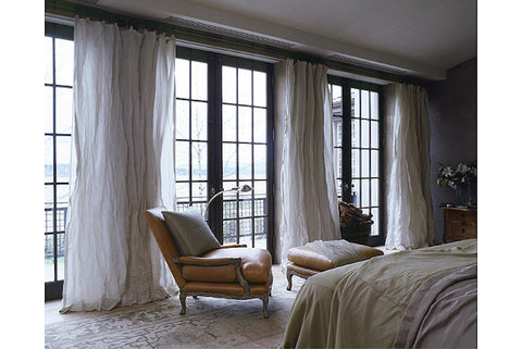 bedroom leather antiques and french windows - saladino