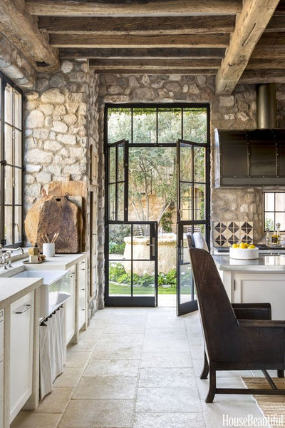Rustic French style country kitchen House Beautiful