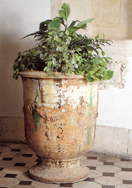 Antique French Anduze Urn Planter Terracotta Patina