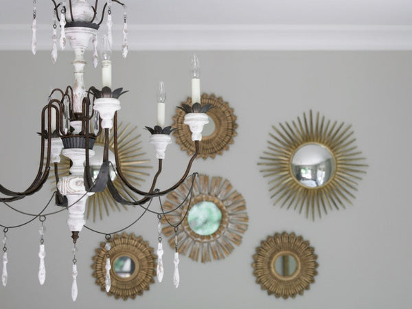 Decorating with sunburst mirrors mid century style