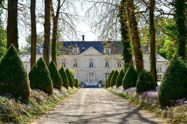 Topiary driveway French mansion