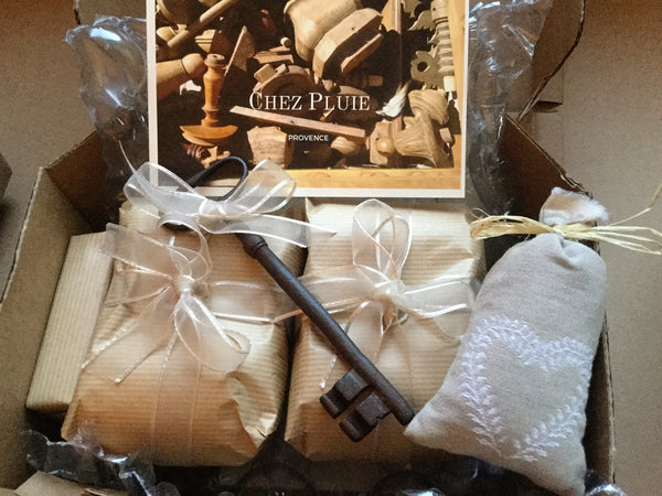 Beautifully gift wrapped Chez Pluie homewares